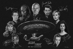 Star Trek: TNG - Autographs by bronze-dragonrider