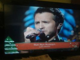 Luke Bryan performing at the CMA Country Christmas by Musicislove12