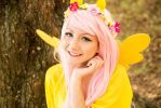 Fluttershy smiling by Saru-Cosplay