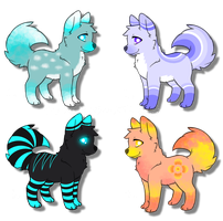 Adorable Wolf/Canine Adoptables! 10 points each! by DailyAdoptables
