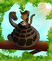 The Snake and the Ocelot by Crafty-Cobra