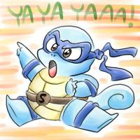 Ninja Squirtle by vaporotem