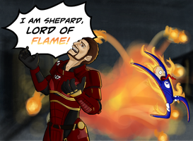 I AM SHEPARD, LORD OF FLAME by Fon-Ronsenbutt