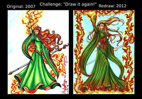 Challenge: Draw it again!  -   Flames by Phantagrafie
