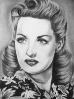 Betty Grable Charcoal Portrait by LucindaGuy