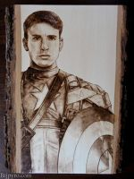 Captain America - Wood burning by brandojones