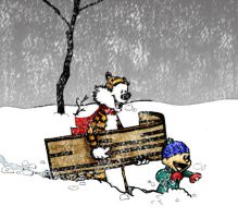 Calvin and Hobbes in the snow by danidarko96