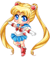 Sailor Pixel Moon by Chikukko