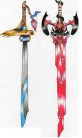 Swords of the enemy by dragonmasterx10