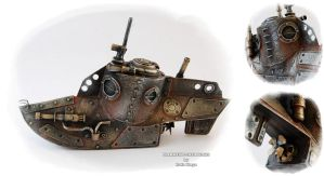 Steampunk Submarine by Diarment