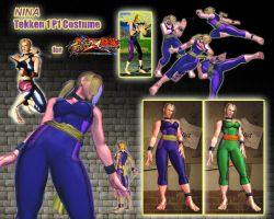 SFxT - Nina: Tekken 1 P1 Costume by sloth85