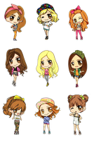 SNSD Love And Girls Fanart Render by HanaBell1