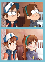 Screencap Redraw: Gravity Falls by breina