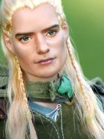 Doll Repainted as Legolas by noeling