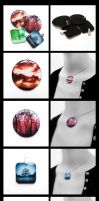 Resin pendants-4 for 3 by caithness-shop