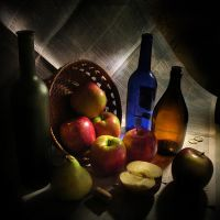 Still life with apples by kopalov