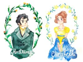 Mr. Darcy and Elizabeth Bennet by 6vedik