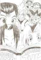 Shonen Jump characters by Particularlyme