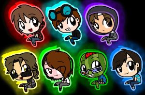 My Fav Minecrafters by pinksonic42