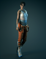 Chell - Blender Cycles Render by lishaoran00