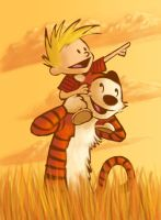 21--Friends: Calvin and Hobbes by PadawanLinea