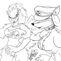FEMALE GIGA-XIS AND GENERAL NIXY'S INTANGIBLE MEET by DEVIOUS-DISCORD-RP