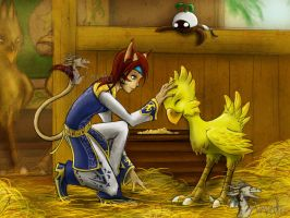 Inside the Chocobo Stables by Arvata