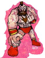 The Red Cyclone Zangief by edbot5000