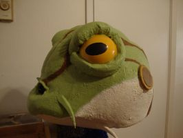 Frog head side by Tionniel