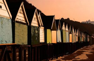 huts all in a row by awjay