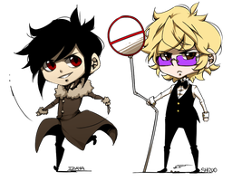 Shizaya Chibs by Meg-the-egg