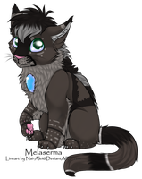 Grey Male Melaserma Adopt by DracKeagan