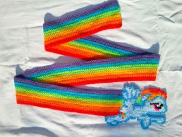 Rainbow Dash Super Sonic Rainboom Scarf! by BlackPie