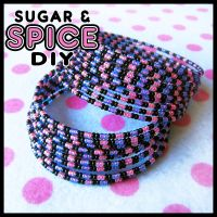 Up All Night KANDi CUFF Rave Bangle Set by SugarAndSpiceDIY