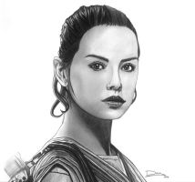 Rey - Star Wars The Force Awakens (Daisy Ridley) by DiegoCR