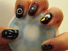 The Avengers Nails by aniapaluch