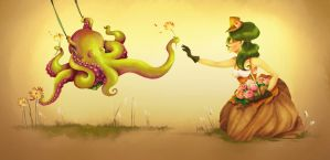 Octovictorian Flower Picking by Nescatii