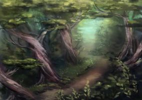 Forest by AizelKon