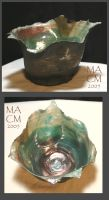 Copper and green seaform by Frost-indri