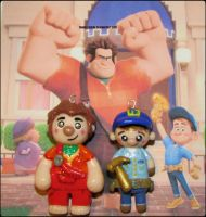 Chibi Charms: Wreck It Ralph and Fix It Felix Jr. by Marielishere