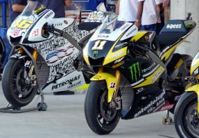 Rossi and Spies' Yamaha's by Retro-Grade1