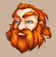 Floating Dwarf Head by Noxychu
