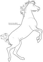 Rearing Horse Lineart by Art-For-The-Insane