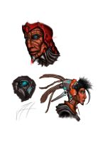 Cyber faces sketch 02 by snowman-nisse
