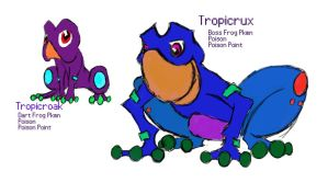 Tropicroak, the Dart Frog Pokemon by Ederek-Cole