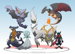Commission: Team Arceus by Sandstormer
