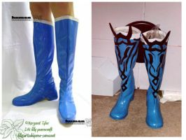 For Sale- 2 Blue Boots Size 7 by lilly-peacecraft