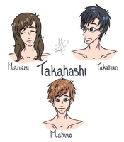 Takahashi family by Fayolinn