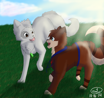 Mossy and Shadsie - Request by selene411