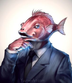 Business Fish by yuumei